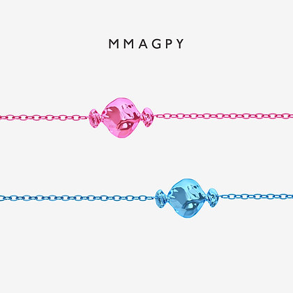 Sugar Rush Bracelet - Pink, Blue | 925 Silver Plated 18K Gold