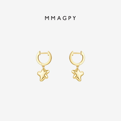 The Star Earrings | 925 Silver Plated 18K Gold