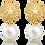 Thumbnail: Patronus Irregular Pearl Stud Earrings