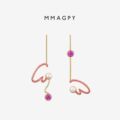 Cray Cray! Earrings | 925 Silver Plated 18K Gold