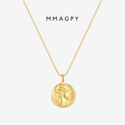 The Golden Coins Necklace | 925 Silver Plated 18K Gold
