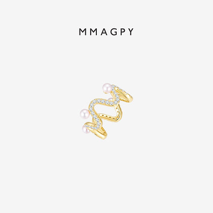 Loop de Loopy Ring | 925 Silver Plated 18K Gold