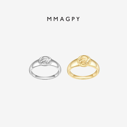 The Golden Coins Mini Ring | 925 Silver Plated 18K Gold