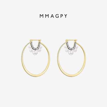 Gypsy Girl Earrings   925 Silver Plated 18K Gold