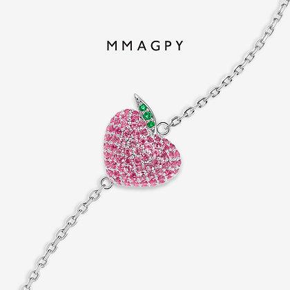 Heart-shaped Peach Bracelet