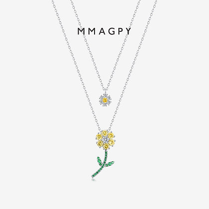 Evening Primrose Necklace | 925 Silver Plated 18K Gold