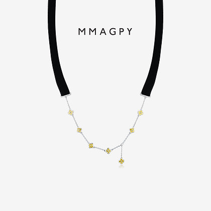 Poetry of Hyacinth Choker | 925 Silver Plated 18K Gold