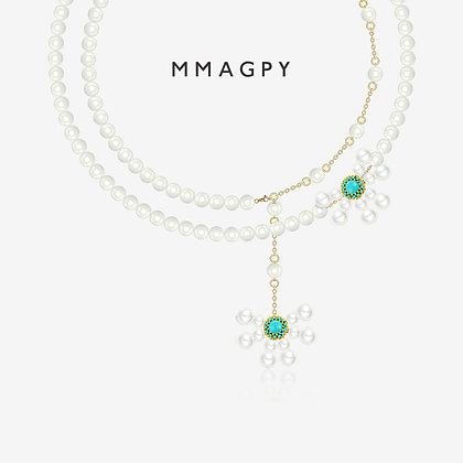 White Night Dandelion Necklace | 925 Silver Plated 18K Gold