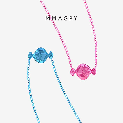 Sugar Rush Necklace - Pink,Blue | 925 Silver Plated 18K Gold