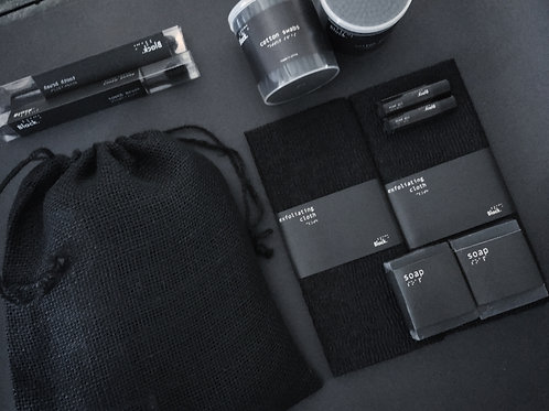 All BLACK GIFT SET bathroom accessories