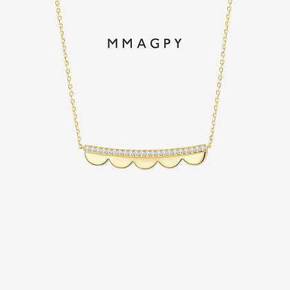 Edge of Dream Mini Necklace | 925 Silver Plated 18K Gold