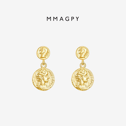 The Golden Coins Earrings | 925 Silver Plated 18K Gold