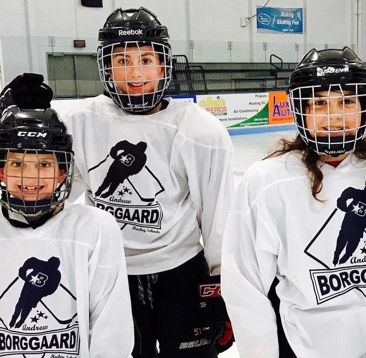 Borggard hockey group lesson.