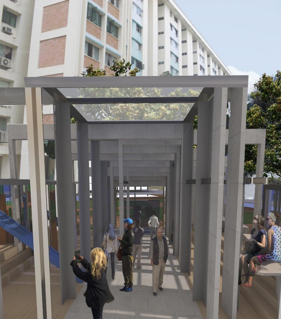 Museum Space Corridor Perspective