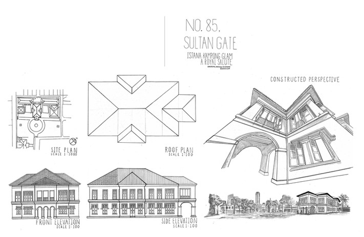 URBAN SKETCH 01 Sultan Gate Singapore