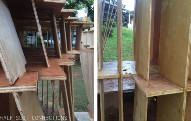 Plywood Box Half Slot Connection