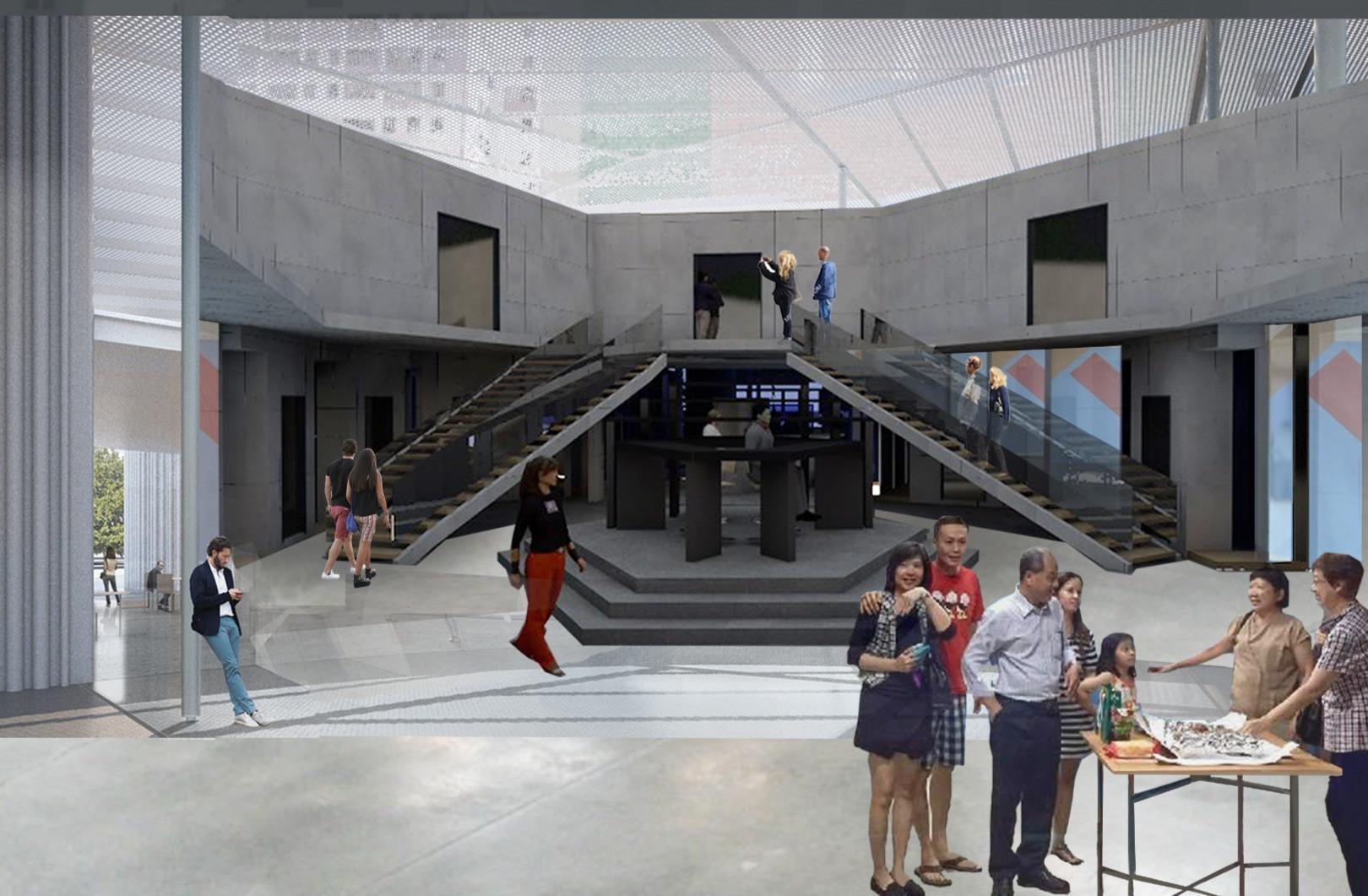 Museum Space Atrium Perspective