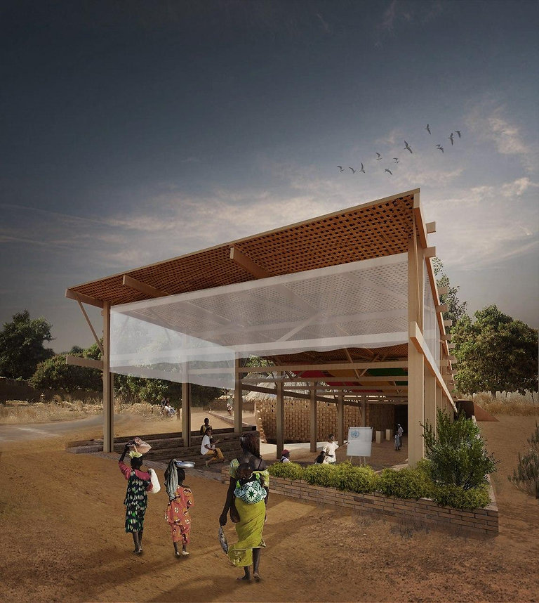 Peace Pavilion Lantern Perspective