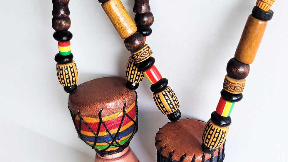 African Drum Necklace
