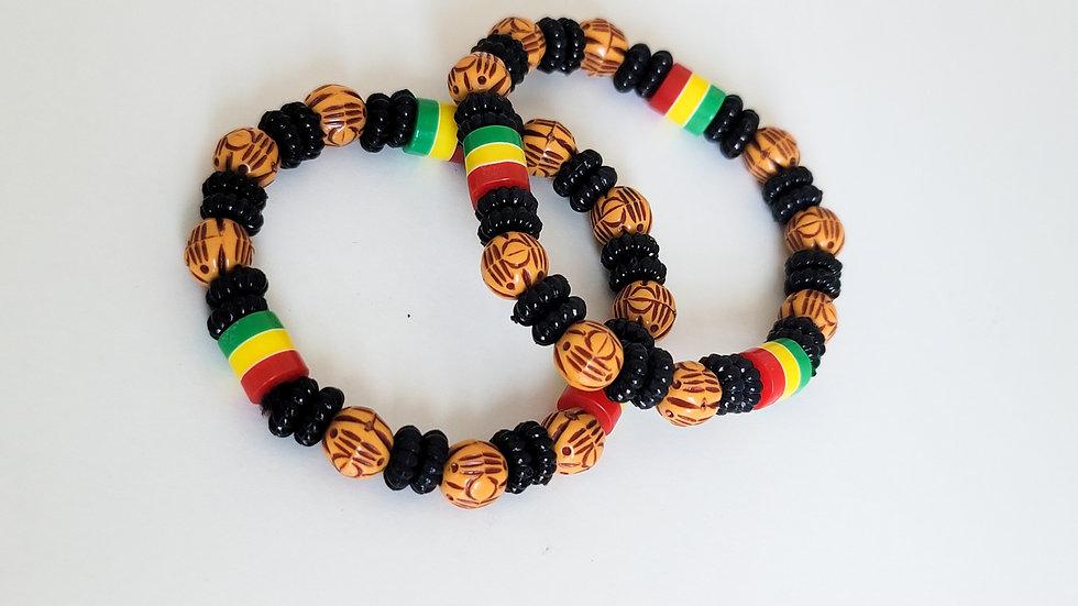 African-inspired Beaded Bracelet