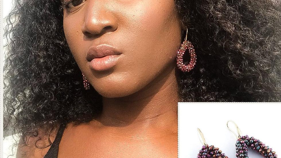 Braided Crystal Bead Earrings