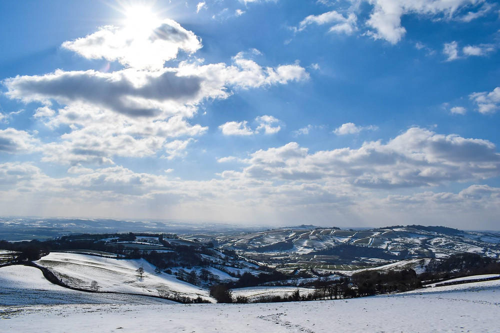 The Exe Valley in snow - by Heather Sheppard