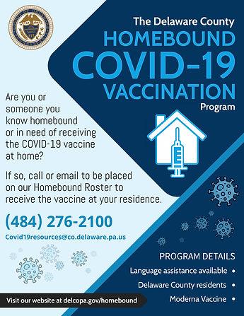 Homebound COVID-19 Vaccination Program F