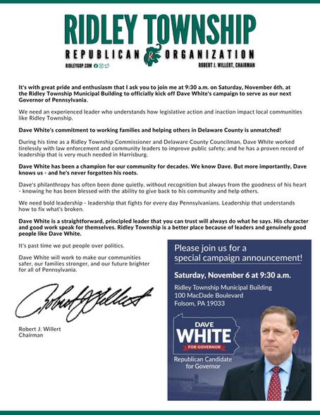 Dave White for Governor