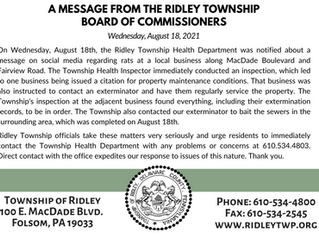 Township Health Department Notice