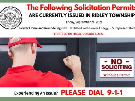 Solicitation Permits