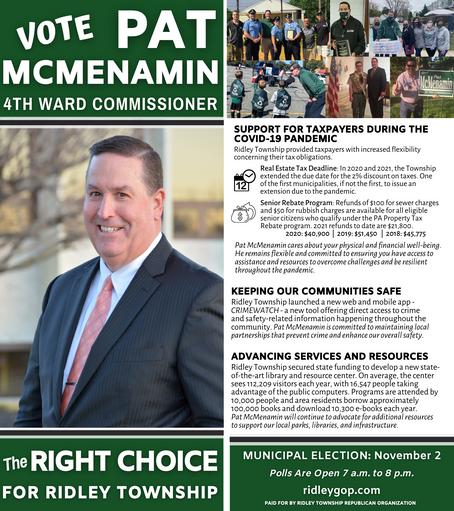 Pat McMenamin for 4th Ward Commissioner
