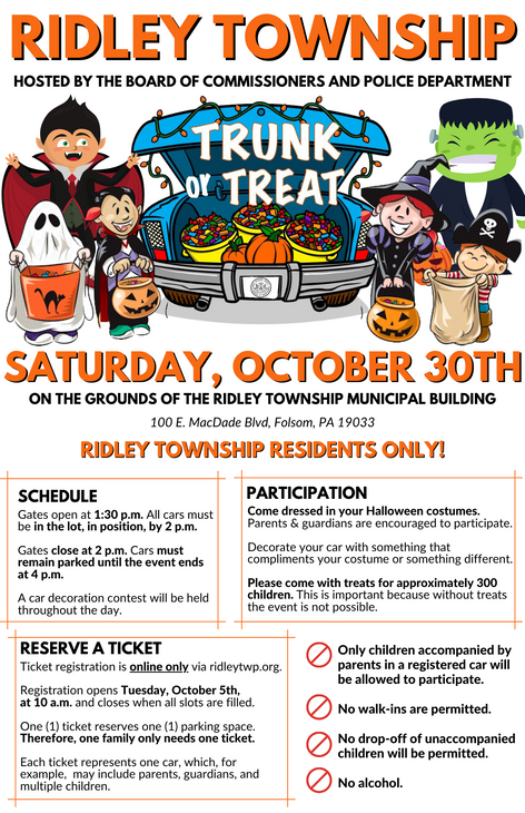 Ridley Township Trunk or Treat
