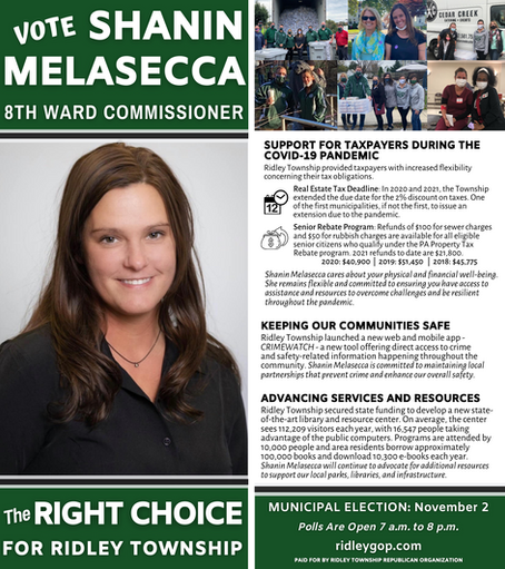Shanin Melasecca for 8th Ward Commissioner