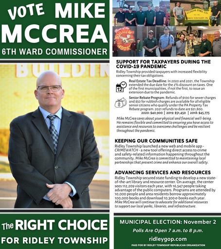 Mike McCrea for 6th Ward Commissioner