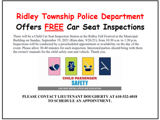 FREE Car Seat Inspections
