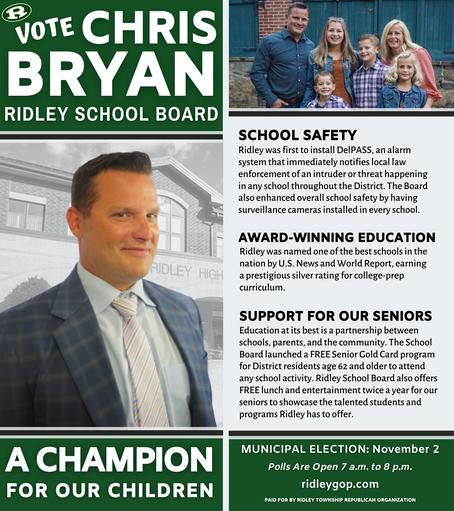 Chris Bryan for Ridley School Board