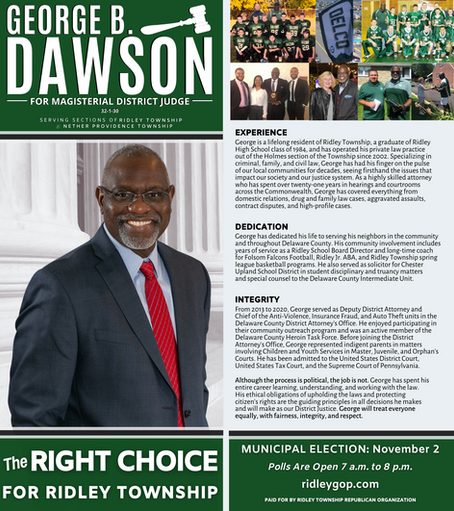 George Dawson for Magisterial District Judge (32-1-30)