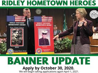 Ridley Township Hometown Heroes Banner Program