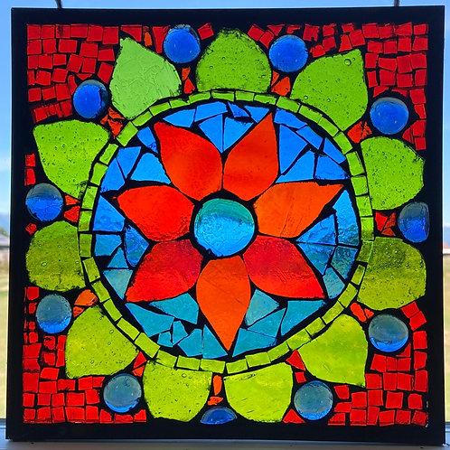 Glass Mosaic window hangings