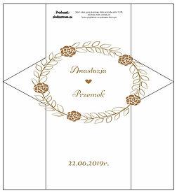 Projekt krówki weselne nr 2