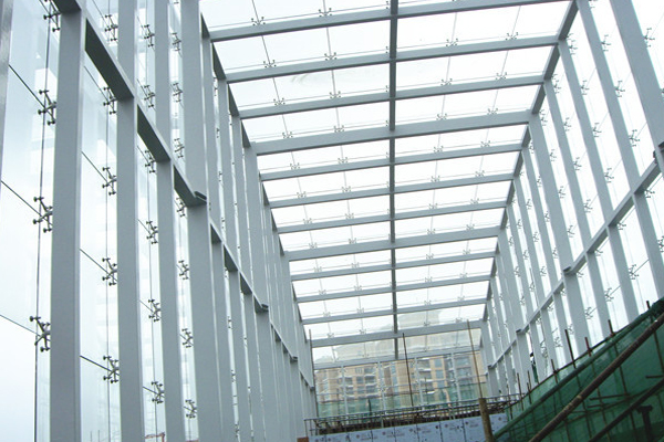 Frameless Spider System With Steel Structure