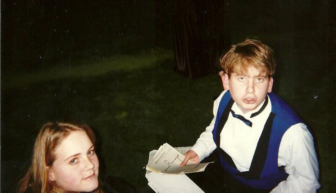 young Lianne and Matthew at a choral event