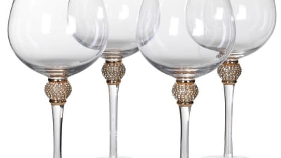 Large Gin diamante glasses x 4