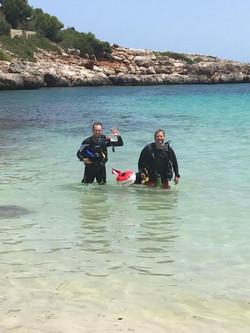 End of a shore dive