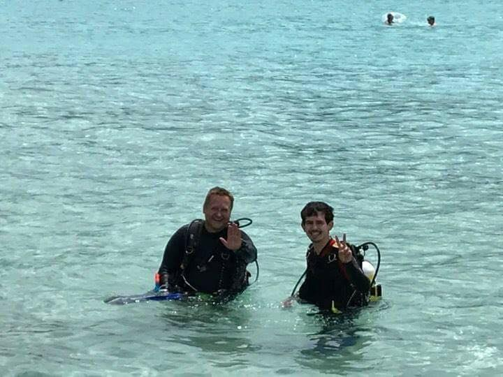 Mathew and DIve Experience Student