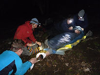 Night first aid scenario