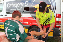 Sports trainer and first aid services