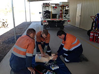 Mine site first aid training