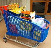 Association Humanitaire Musulmane, collecte chariot