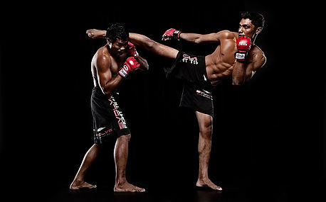 black-background-stand-fighters-mma-wall